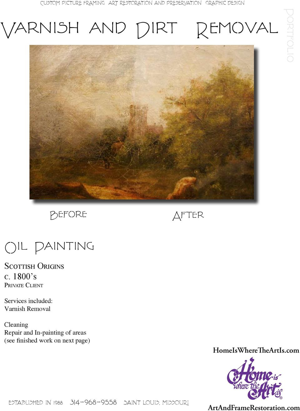 1800 s Private Client Varnish Removal