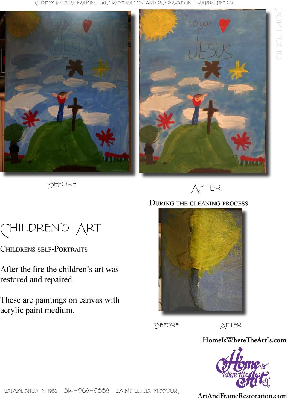 children s art was restored and repaired.