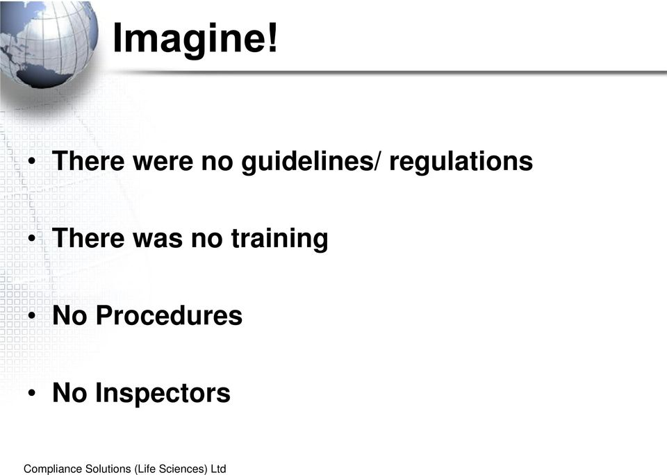 regulations There was