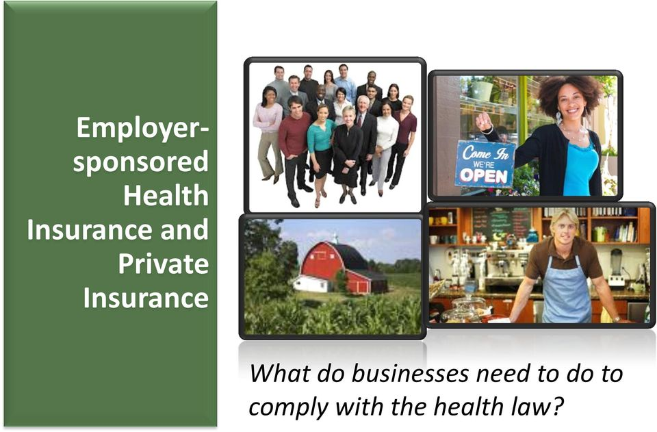 Insurance What do businesses