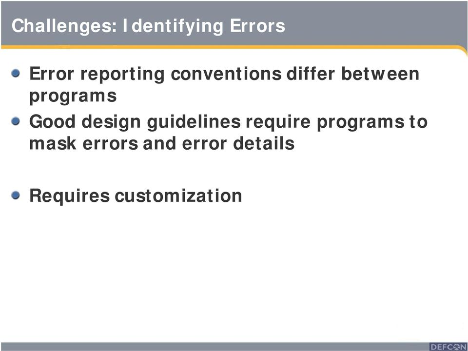 programs Good design guidelines require