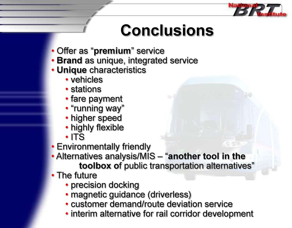 analysis/mis another tool in the toolbox of public transportation alternatives The future precision docking