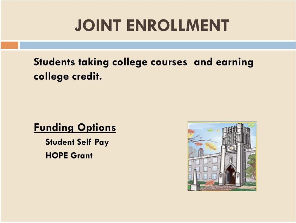 earning college credit.