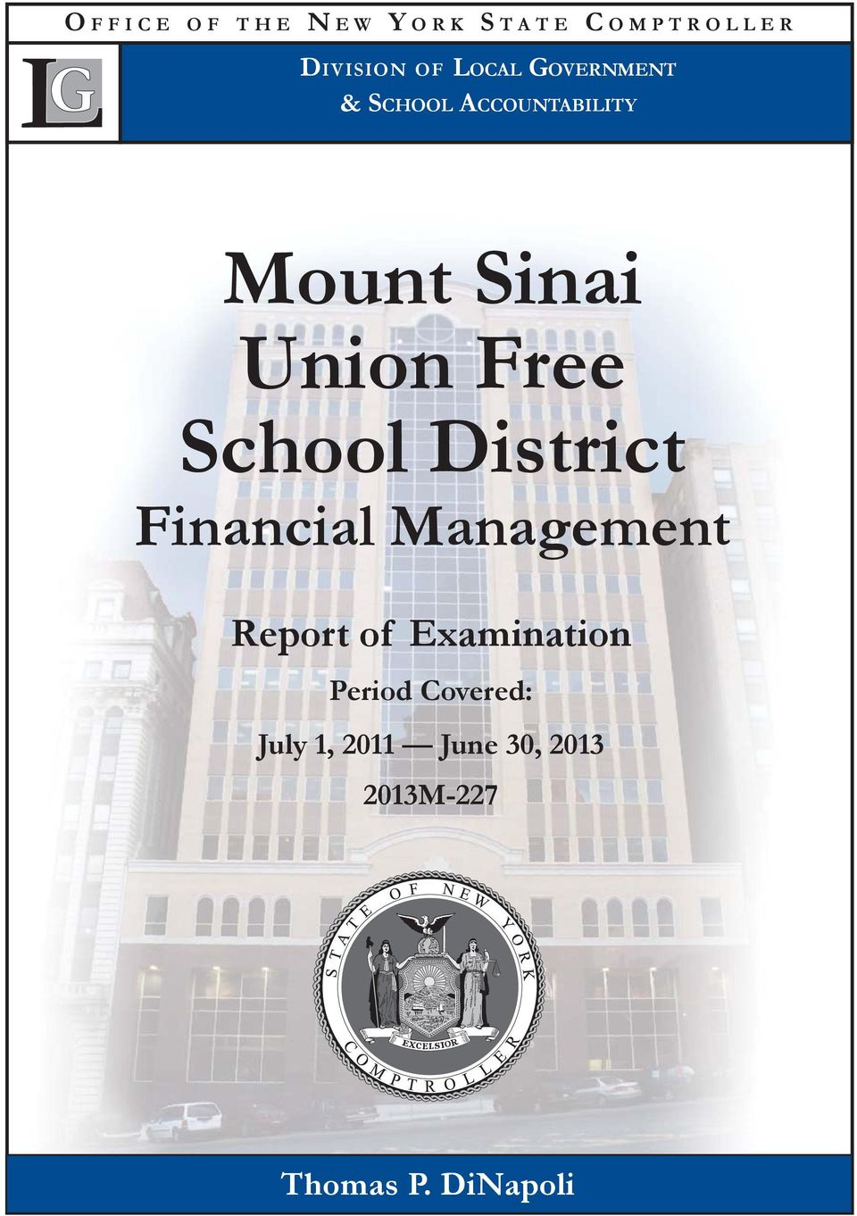 School District Financial Management Report of Examination