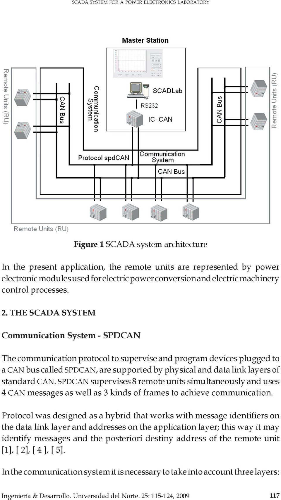 the SCADA SYSTEM Communication System - spdcan The communication protocol to supervise and program devices plugged to a CAN bus called spdcan, are supported by physical and data link layers of