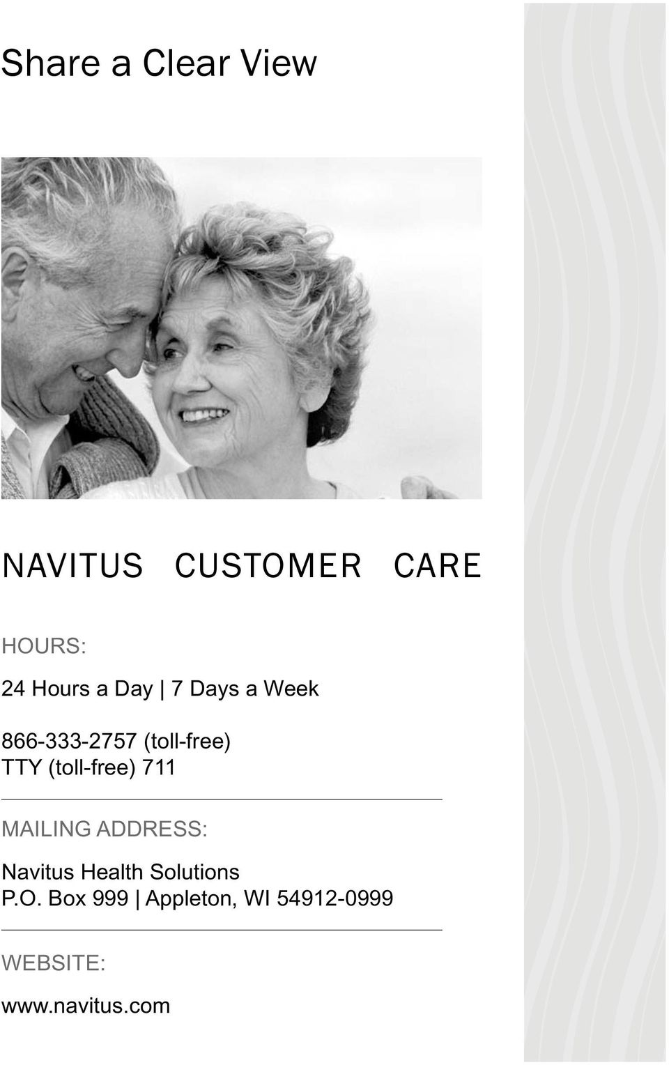 (toll-free) 711 MAILING ADDRESS: Navitus Health