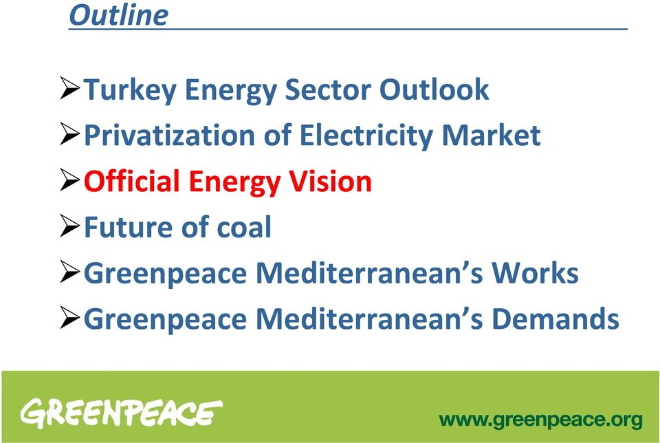 Energy Vision Future of coal Greenpeace