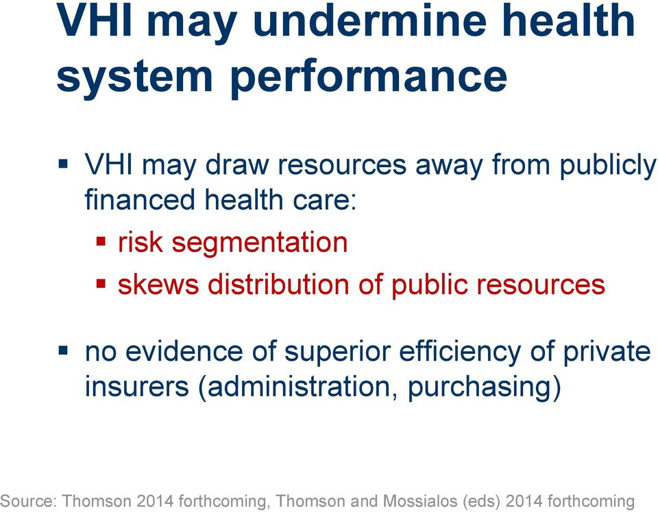resources no evidence of superior efficiency of private insurers (administration,