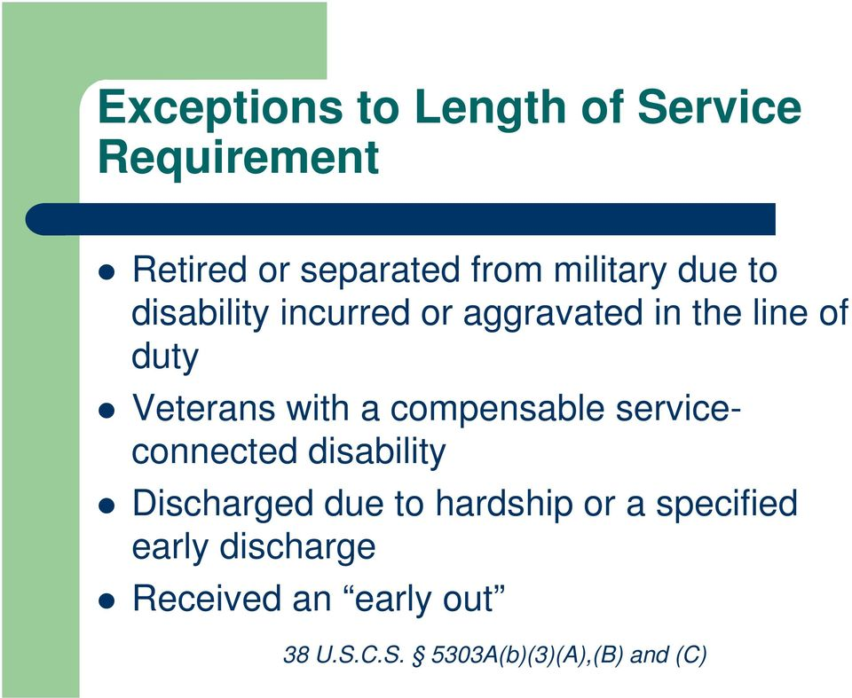 compensable serviceconnected disability Discharged due to hardship or a