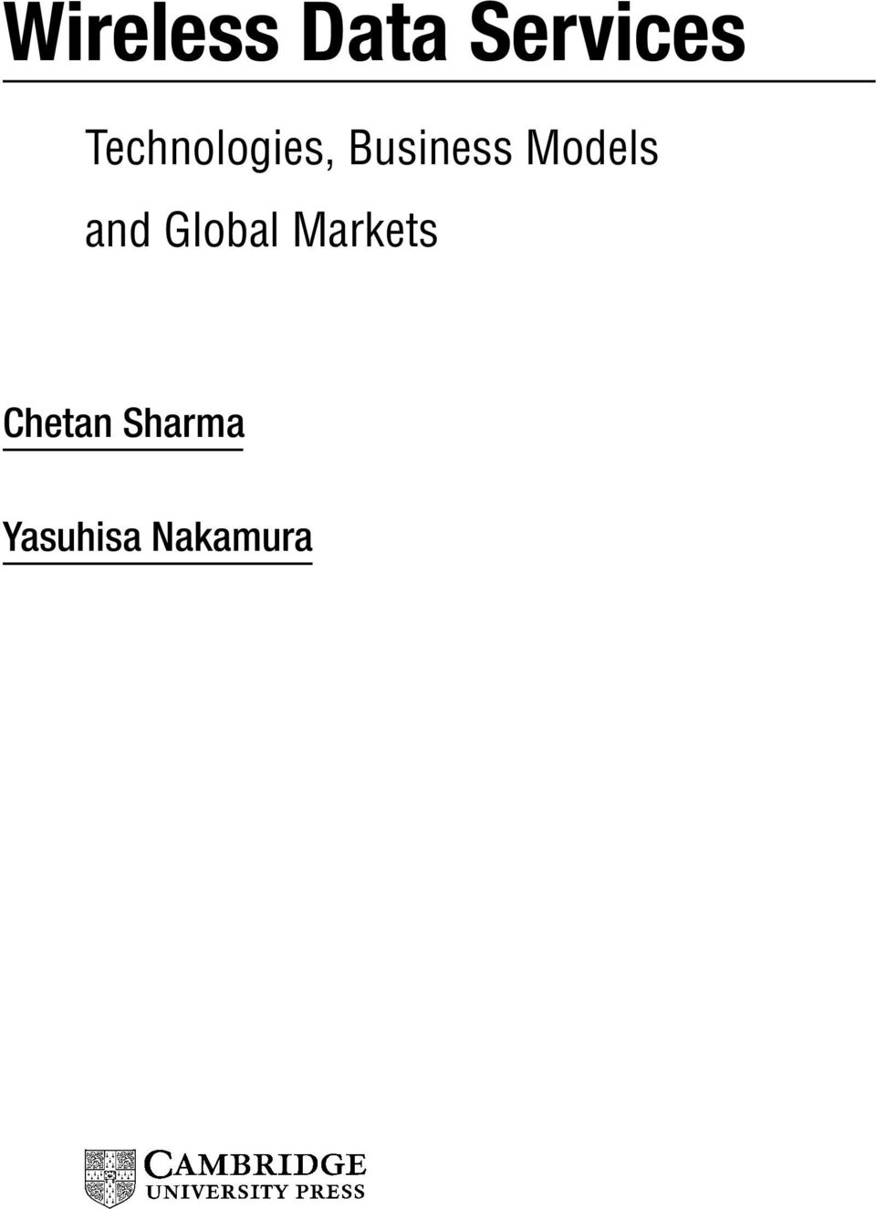 Models and Global Markets