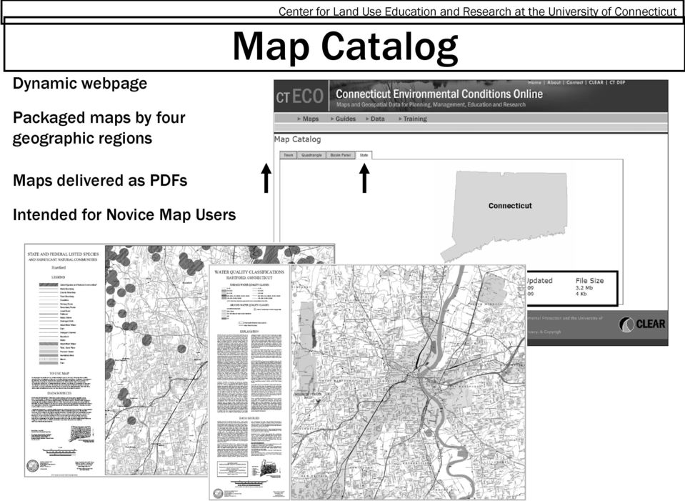 webpage Packaged maps by four geographic regions