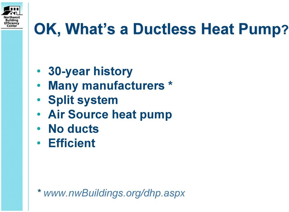 Split system Air Source heat pump No