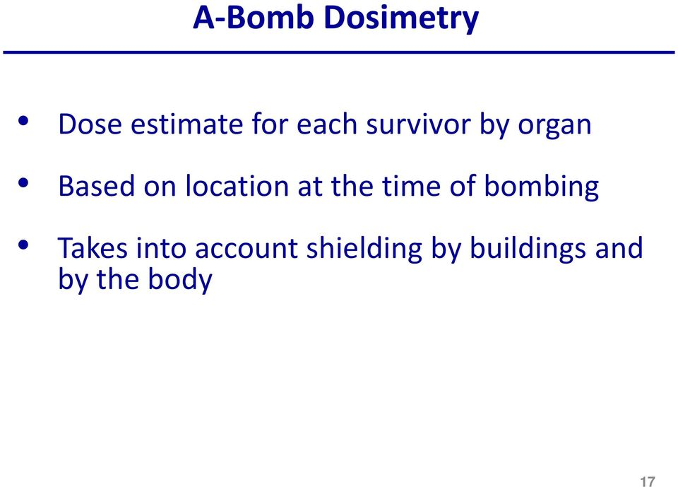the time of bombing Takes into account