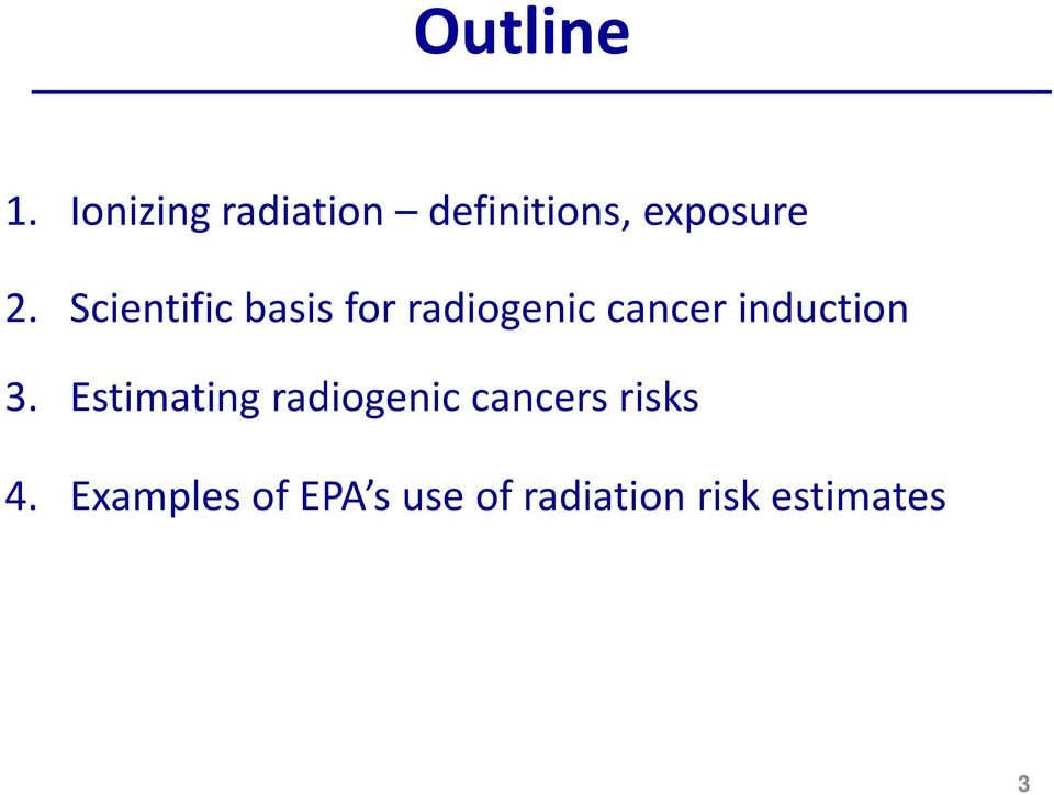 Scientific basis for radiogenic cancer induction