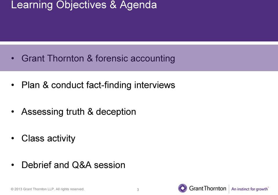 fact-finding interviews Assessing truth &