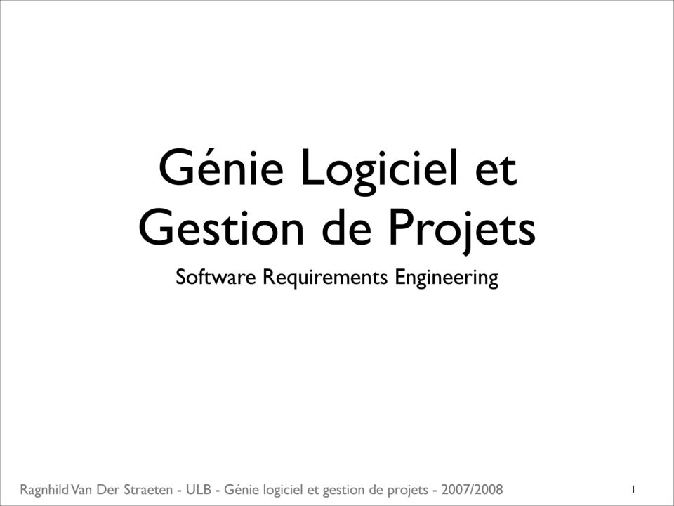 Projets Software
