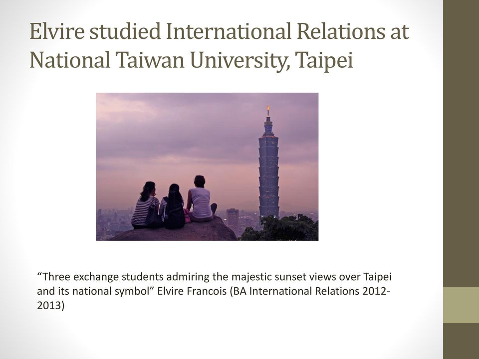 admiring the majestic sunset views over Taipei and its