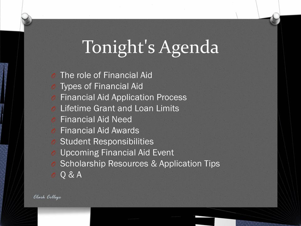 Financial Aid Need Financial Aid Awards Student Responsibilities