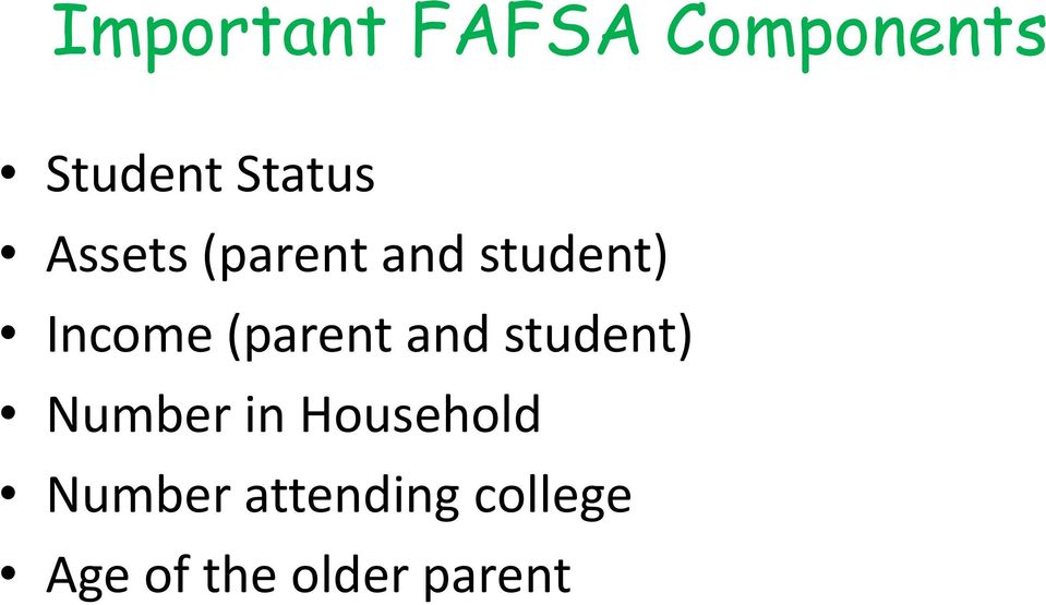 (parent and student) Number in Household