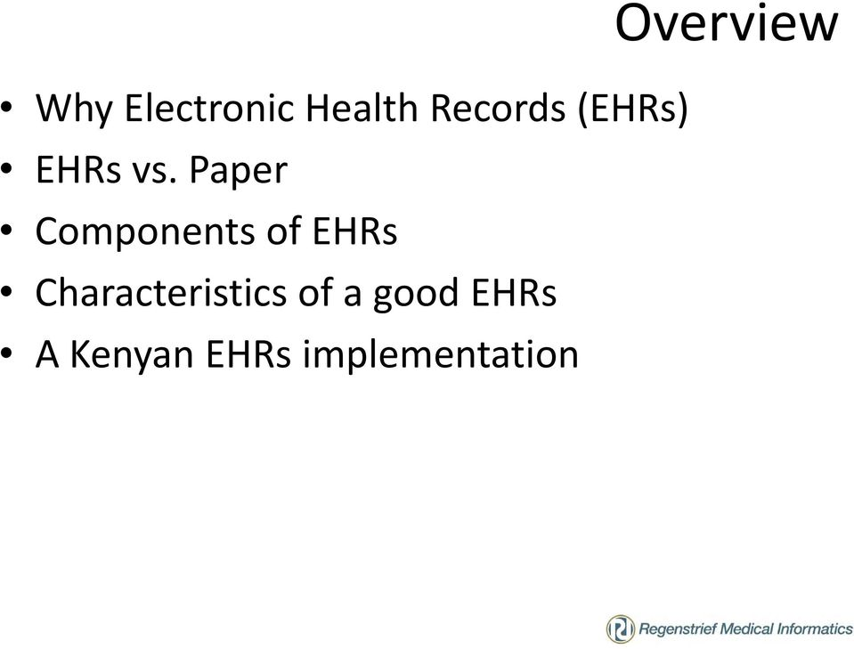 Paper Components of EHRs