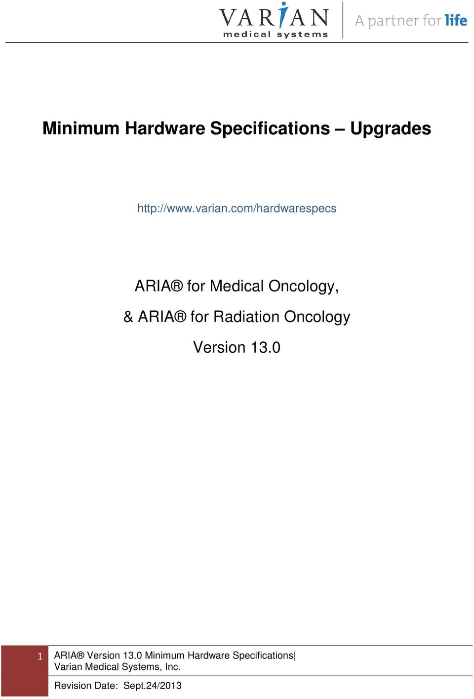 com/hardwarespecs ARIA for Medical Oncology, &
