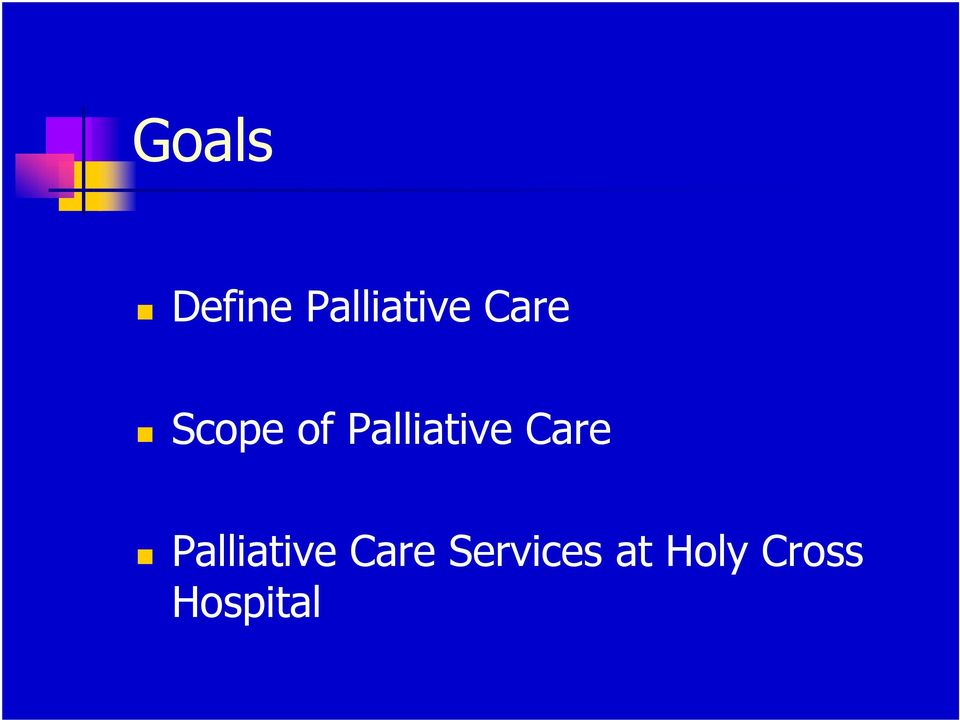 Care Palliative Care