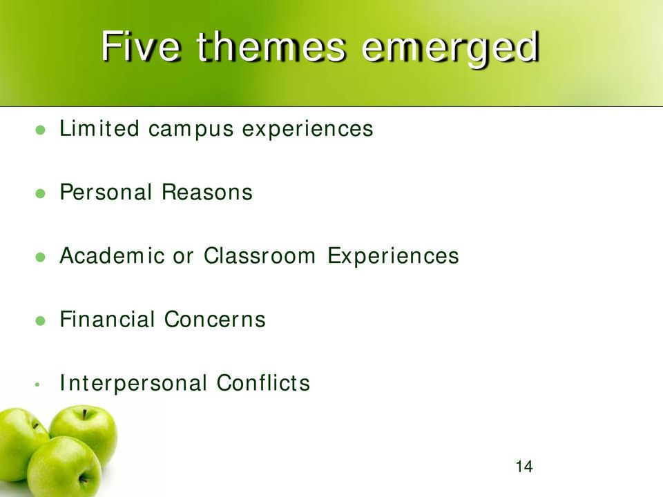 Academic or Classroom Experiences
