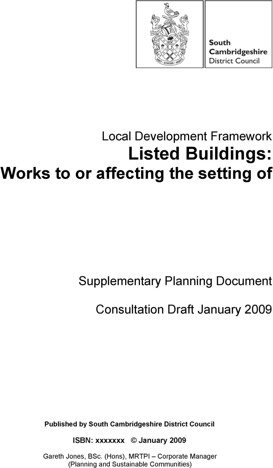Supplementary Planning Document Published by South Cambridgeshire District Council ISBN: