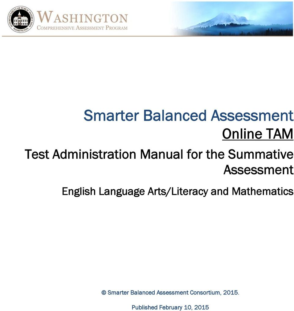 English Language Arts/Literacy and Mathematics