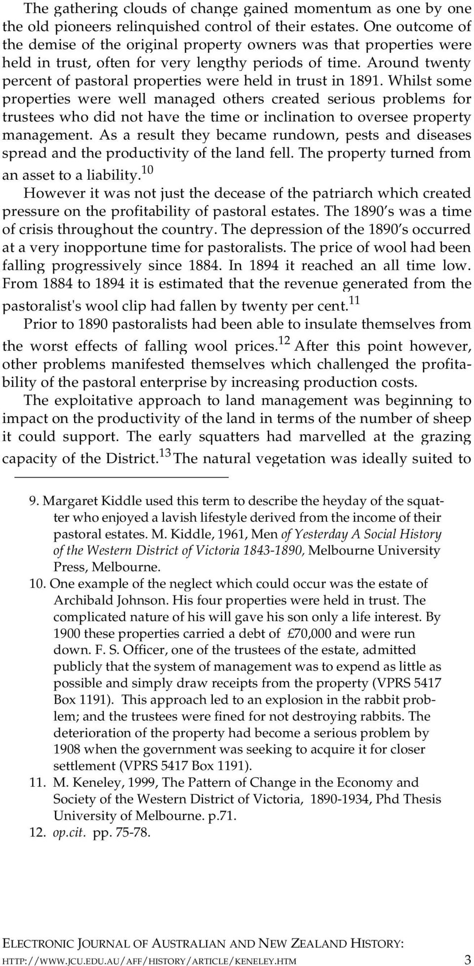 Around twenty percent of pastoral properties were held in trust in 1891.