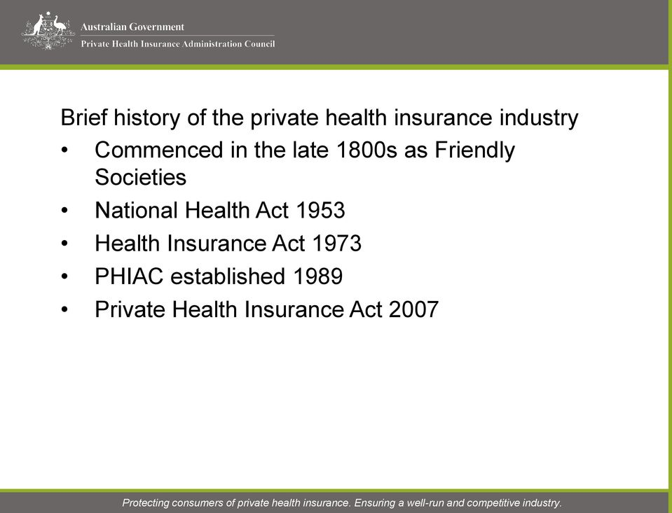 Societies National Health Act 1953 Health Insurance