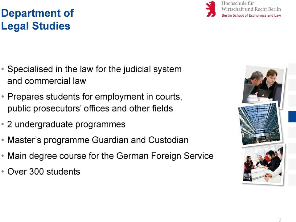 offices and other fields 2 undergraduate programmes Master s programme Guardian