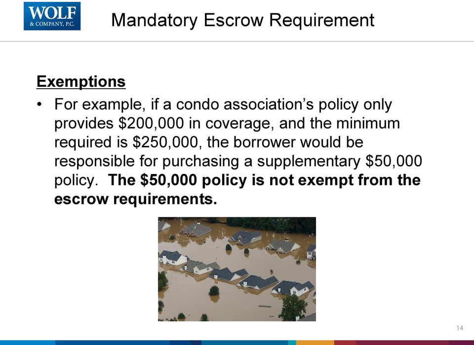 $250,000, the borrower would be responsible for purchasing a supplementary