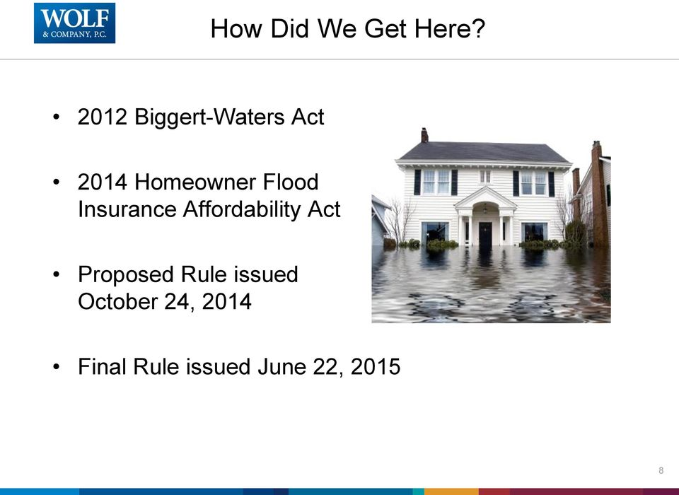 Flood Insurance Affordability Act