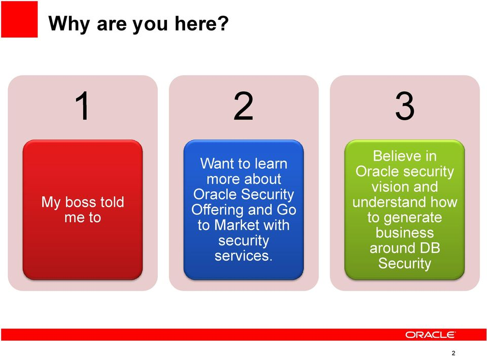 Security Offering and Go to Market with security