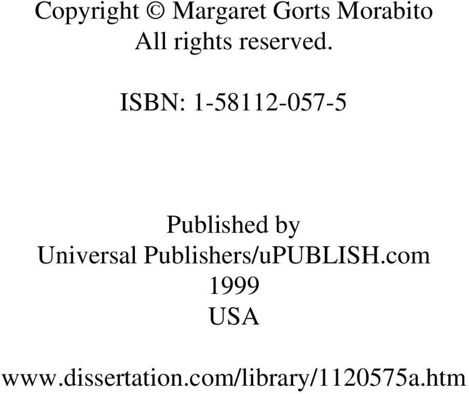 ISBN: 1-58112-057-5 Published by Universal