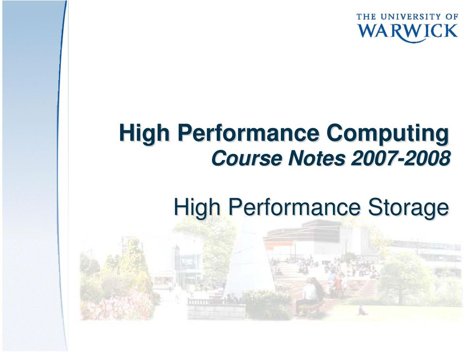 Notes 2007-2008