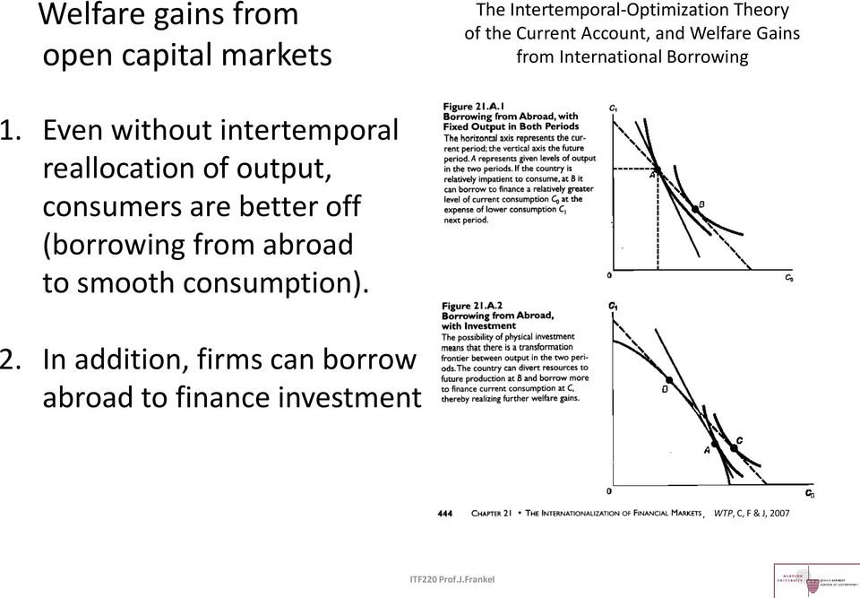 Even without intertemporal reallocation of output, consumers are better off (borrowing