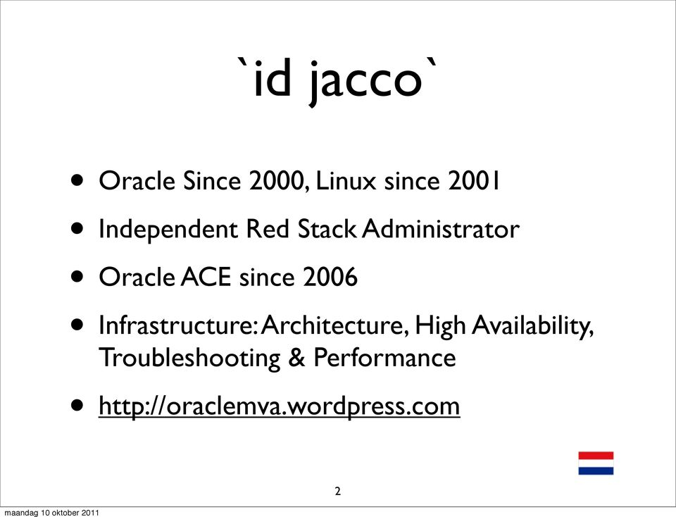 2006 Infrastructure: Architecture, High Availability,
