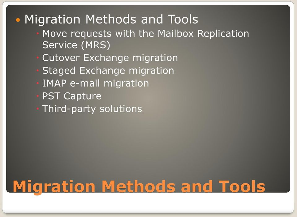 migration Staged Exchange migration IMAP e-mail