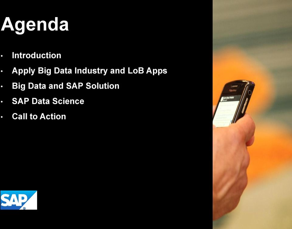 SAP Solution SAP Data Science Call to