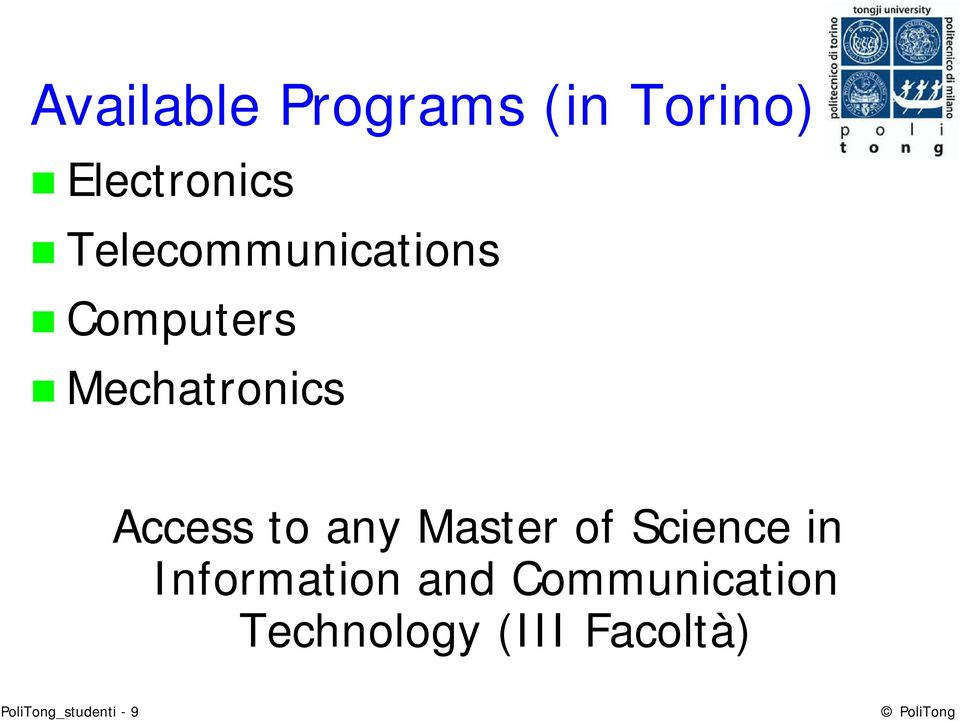 any Master of Science in Information and