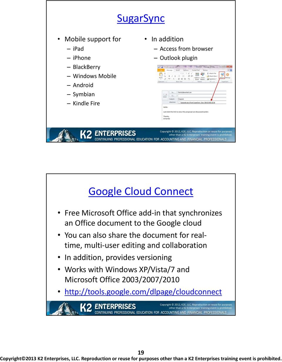 Google cloud You can also share the document for realtime, multi-user editing and collaboration In addition, provides