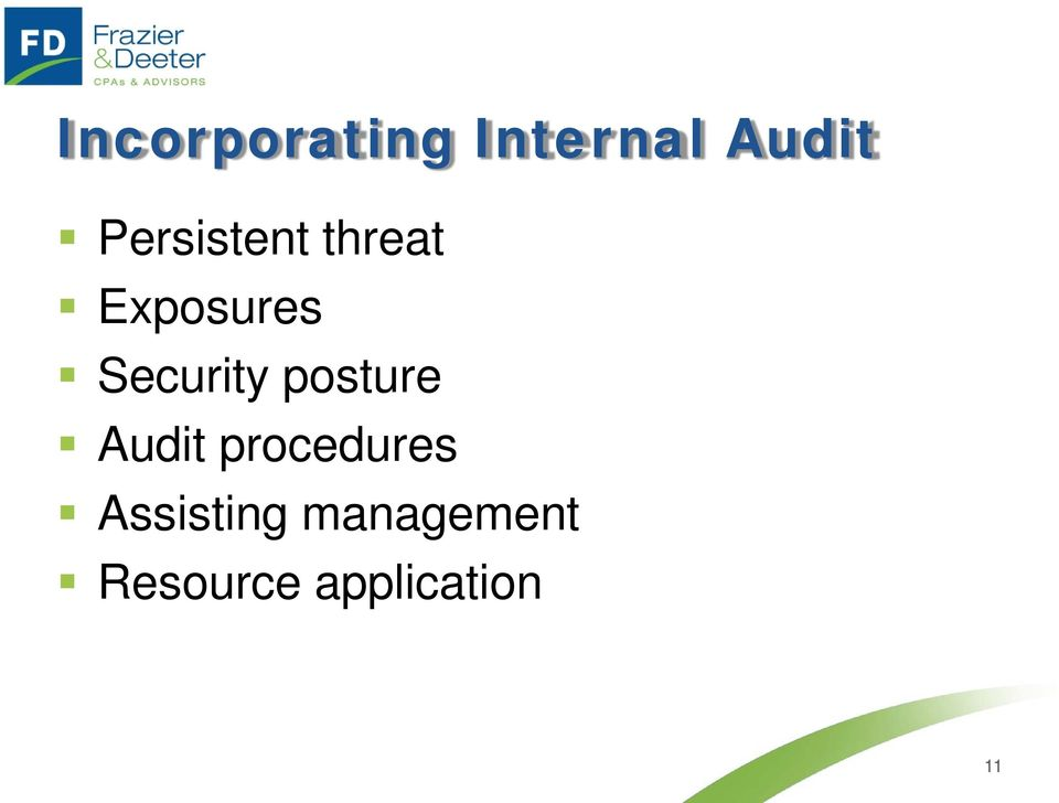 Security posture Audit procedures