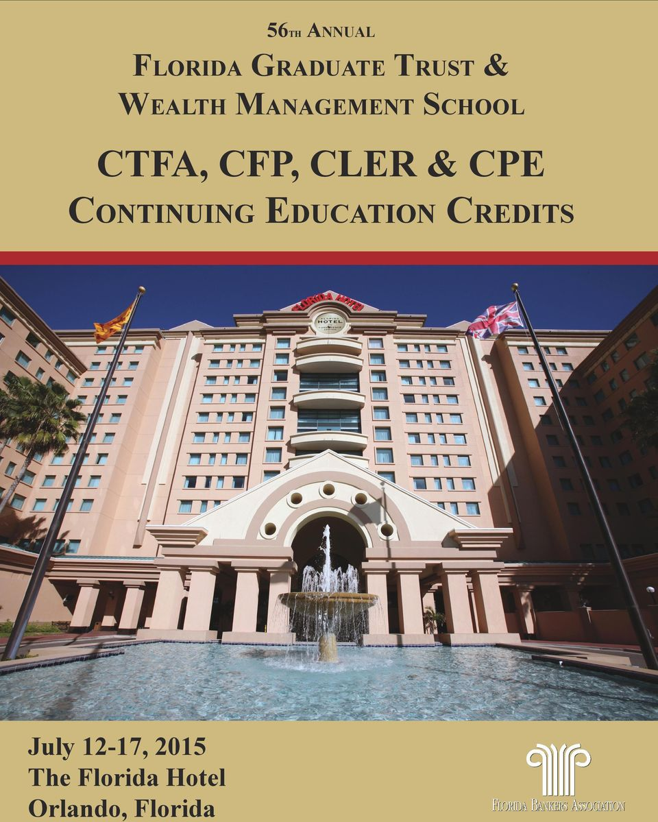 & CPE Continuing Education Credits July