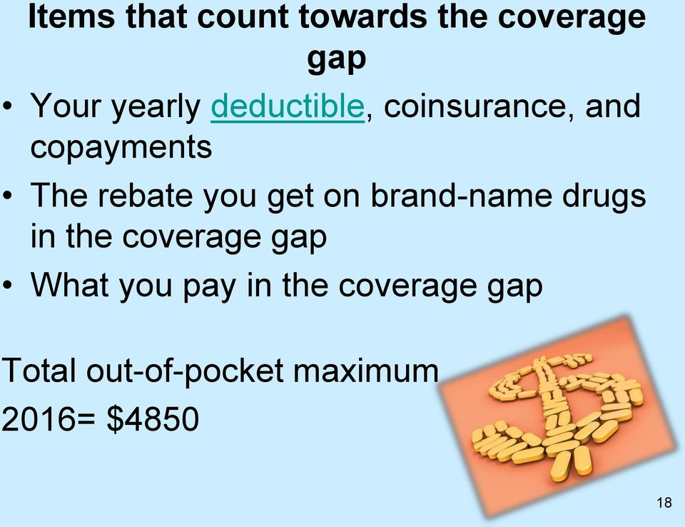 get on brand-name drugs in the coverage gap What you pay