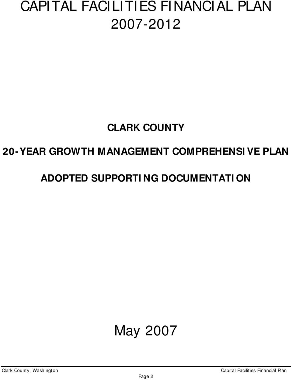MANAGEMENT COMPREHENSIVE PLAN ADOPTED
