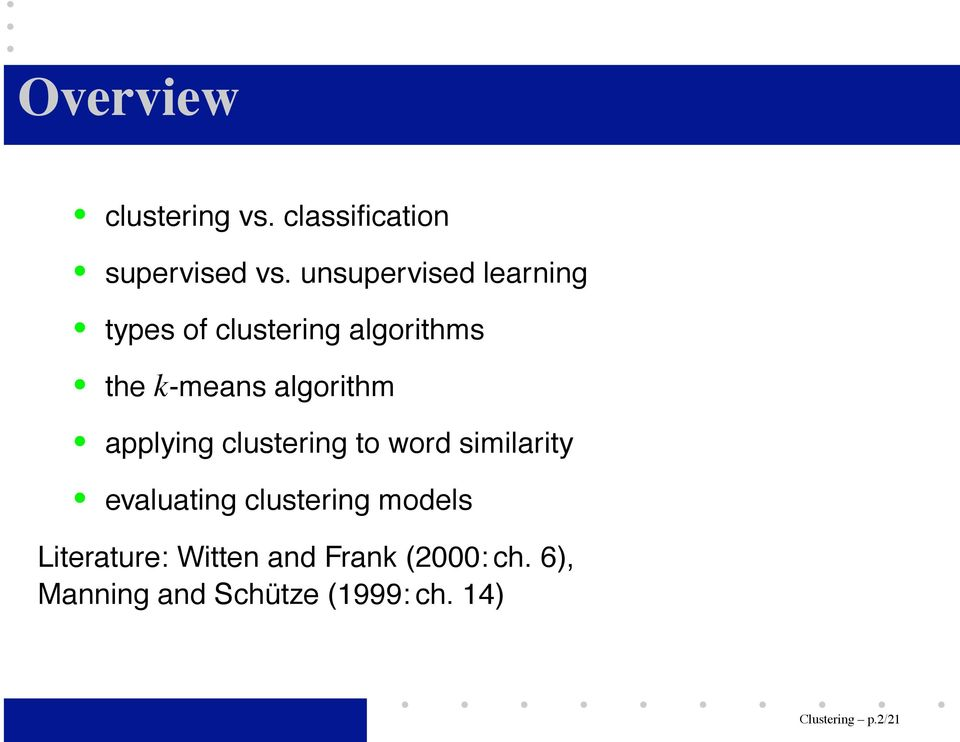 algorithm applying clustering to word similarity evaluating clustering