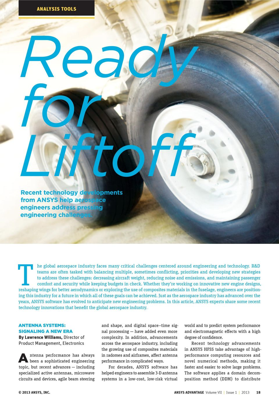 Ready for Liftoff  Recent technology developments from ANSYS help