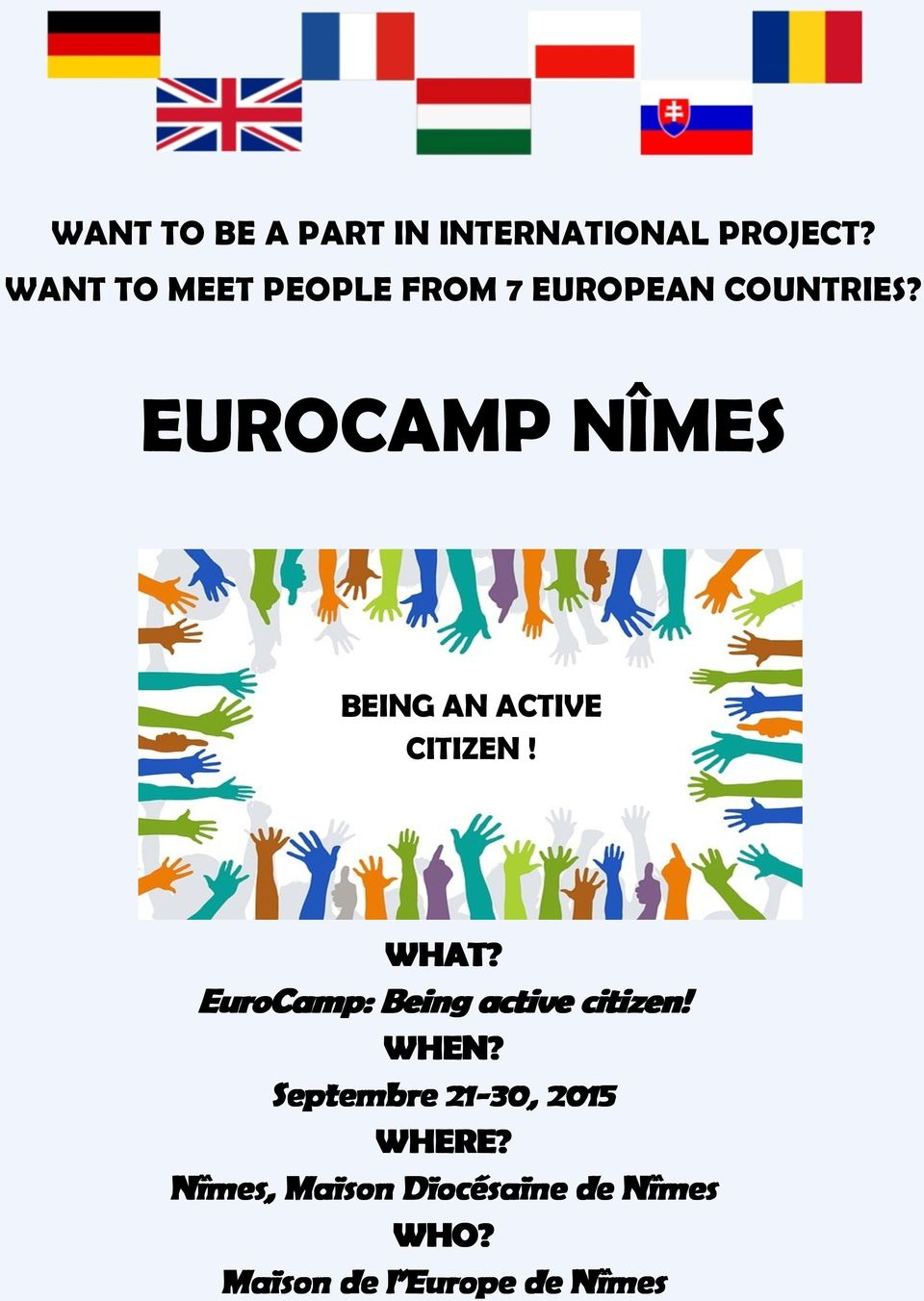 EUROCAMP NÎMES BEING AN ACTIVE CITIZEN! WHAT?